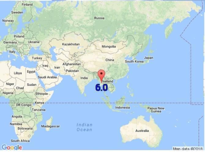 แผ่นดินไหวที่พม่า 6.0 ริกเตอร์