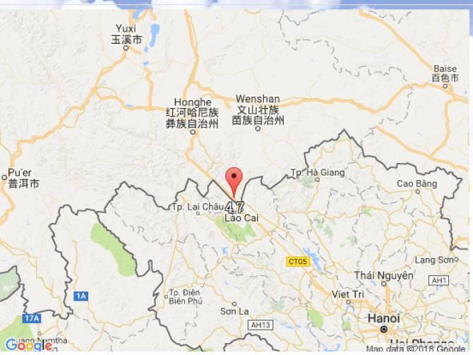 แผ่นดินไหวที่จีน 4.7 ริกเตอร์